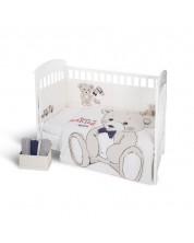 Set 2 piese lenjerie de pat pentru patut bebe  Kikka Boo Teddy Bear - EU style, 60 x 120 cm -1