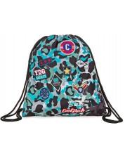 Sac sport cu siret Cool Pack Spring - Camo Blue Badges