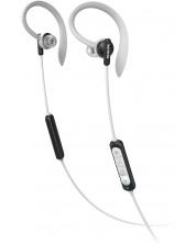 Casti sport cu microfon  Philips - TAA4205BK, negre/gri