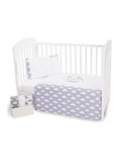 Set 3 piese lenjerie de pat pentru patut bebe  Kikka Boo Little Angel - Cu broderie, 70 x 140 cm -1