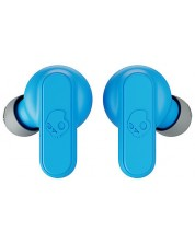 Casti sport cu microfon Skullcandy - Dime, TWS, gri/albastre