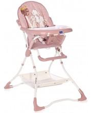 Scaun de masa pentru copii Lorelli – Bonbon Beige, roz -1