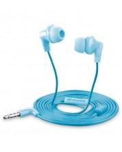 Casti cu microfon Cellularline - Smarty, albastre
