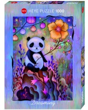 Puzzle Heye de 1000 piese - Panda pui de somn, Jeramiah Ketner