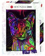 Puzzle Heye de 2000 piese - Pisica, Deean Rosso