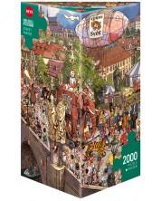 Puzzle Heye de 2000 piese - Parada stradala, Doro Gobel i Peter Knorr