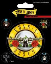 Stickere Pyramid Music:  Guns N' Roses - Bullet Logo