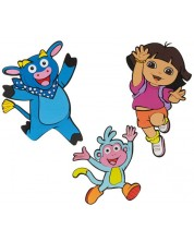 Decor de perete Nickelodeon - Exploratoarea Dora, 3 piese