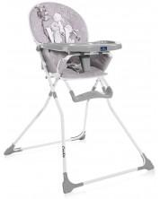 Scaun de masa pentru copii  Lorelli - Cookie, Grey Rabbits -1