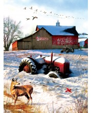 Puzzle SunsOut de 1000 piese - Greg Giordano, Tractor on the Farm
