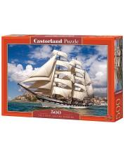 Puzzle Castorland de 500 piese - Plecarea vaporului din port