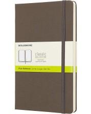 Agenda cu coperti tari Moleskine Classic Plain - Maro, file albe