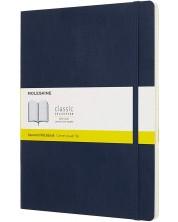 Agenda cu coperti moi Moleskine Classic Squared XL - Albastru, file cu patratele