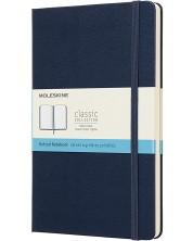 Agenda cu coperti tari Moleskine Classic Dotted - Albastru, pagini cu puncte