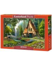 Puzzle Castorland de 2000 piese - Casa in padure, Dominic Davison