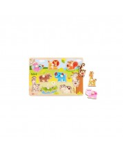 Tooky Toy Puzzle cu manere educativ Animale -1