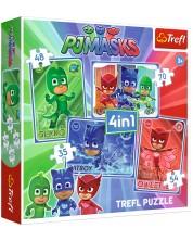 Puzzle Trefl 4 in 1 - Catboy si echipa