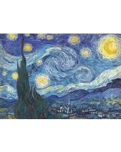 Puzzle Trefl de 1000 piese - Noapte instelata, Vincent Van Gogh