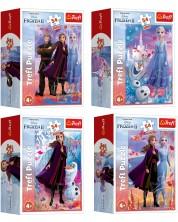 Mini puzzle Trefl de 54 piese - In the world of Anna and Elza, sortiment