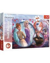 Puzzle Trefl de 160 piese - Regatul de gheata 2, Aventura surorilor