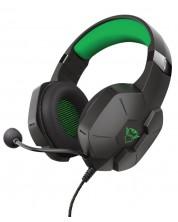 Casti gaming Trust - GXT 323X Carus, Xbox/PS5, negru/verde