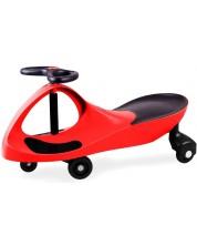 Tricicleta cu volan Bigjigs - Didicar, rosie -1