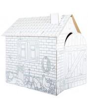 Set creativ Small Foot - Fa-ti singur casa din carton