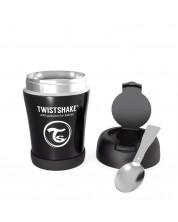 Recipient hrana Twistshake Insulated Pastel - Negru, 350 ml -1