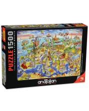 Puzzle Anatolian de 1500 piese - Harta Europei