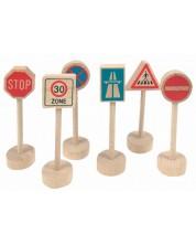 Accesorii din lemn Woody - Indicatoare rutiere -1