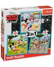 Puzzle Trefl 3 in 1 - Mickey Mouse si prietenii