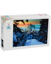 Puzzle Step Puzzle de 1000 piese - Castelul Neuschwanstein iarna