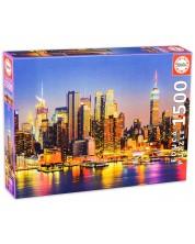 Puzzle Educa de 1500 piese - Manhattan noaptea
