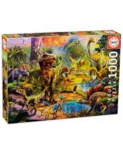 Puzzle Educa de 1000 piese - Tara dinozaurilor