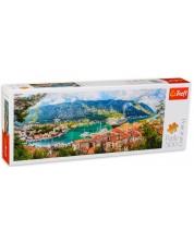 Puzzle panoramic Trefl de 500 piese - Kotor, Montenegro