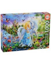 Puzzle Educa 1000 de piese - Printesa si unicornul