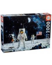 Puzzle Educa de 1000 piese - Primul om pe Luna