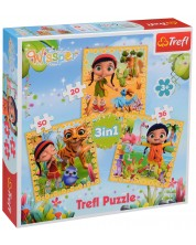 Puzzle Trefl 3 in 1 - Calatorie, Wissper