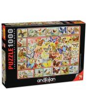 Puzzle Anatolian de 1000 piese - Fluturi, Barbara Behr