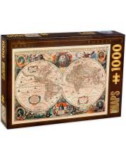 Puzzle D-Toys de 1000 piese - Harti vintage, Harta vintage