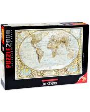 Puzzle Anatolian de 2000 piese – Harta lumii, Jay Simons