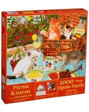 Puzzle SunsOut de 1000 piese - Pisoiasi la picnic, Julie Bauknecht