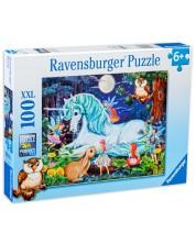 Puzzle Ravensburger de 100 XXL piese - Padurea fermecata