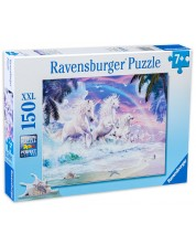 Puzzle Ravensburger de 150 XXL piese - Unicorni pe plaja