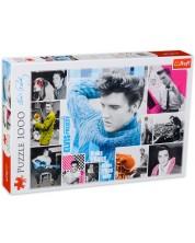 Puzzle Trefl de 1000 piese - Elvis Presley, Tanar pentru totdeauna