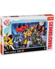 Puzzle Trefl de 100 piese - Transformers, Echipa Autobotii