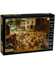 Puzzle D-Toys de 1000 piese - Jocurile copiilor, Pieter Brueghel cel Batran