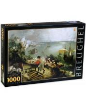 Puzzle D-Toys de 1000 piese - Peisajul cu caderea lui Icarus, Pieter Bruegel