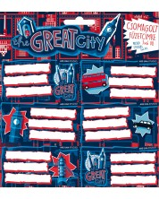 Etichete scolare Ars Una The Great City - 18 bucati -1
