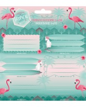 Etichete scolare  Ars Una Pink Flamingo - 18 bucati -1
